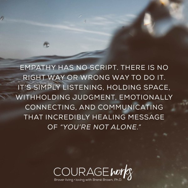 empathy has no script brene brown