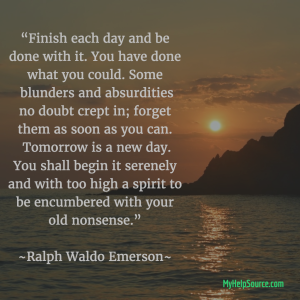 finish each day and be done with it emerson