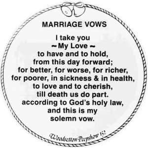 traditional wedding vows