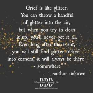 grief is like glitter