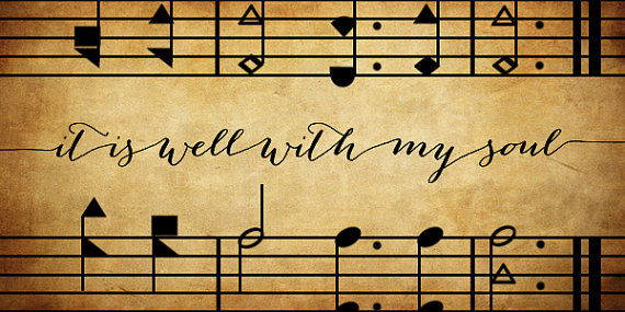 it is well hymn music image