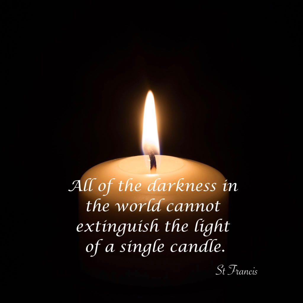 A Single Candle Can Defy The Darkness